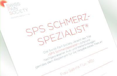 SPS Schmerzspezialistin®